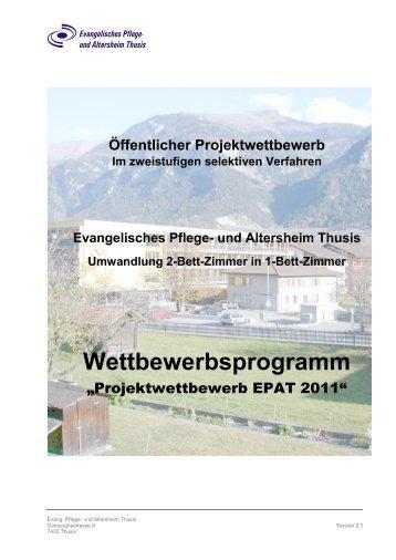 Wettbewerbsprogramm - Altersheim Thusis