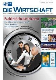 Die Wirtschaft September 2012 - IHK Bonn/Rhein-Sieg