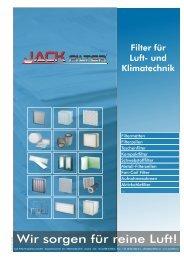 Filter für Luft- und Klimatechnik - Jack Filter