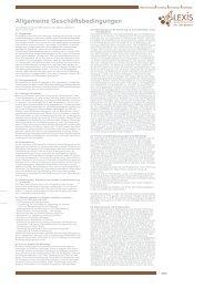 Allgemeine Geschäftsbedingungen - 4Lexis Werbeagentur