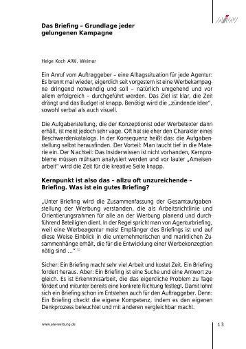 Checkliste Briefing Frenkelson Werbeagentur