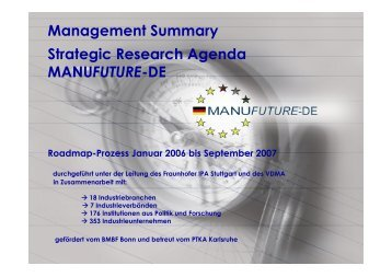 Management Summary - MANUFUTURE Germany