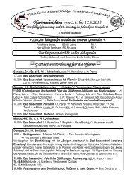 Der Pfarrbrief vom 02.06.2012 bis 17.06.2012 - Pfarrei Heilige ...