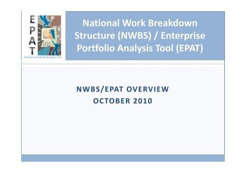 National Work Breakdown Structure (NWBS) / Enterprise