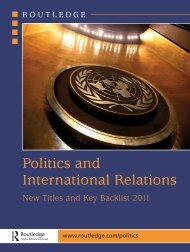 Politics and International Relations 2011 (UK) - Routledge