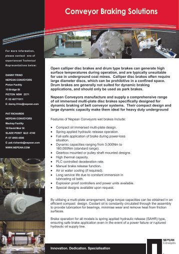 NEPEAN Conveyors - Conveyor Braking Solutions