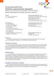Palliation respiratorischer Symptome - Netzwerk Palliativmedizin ...