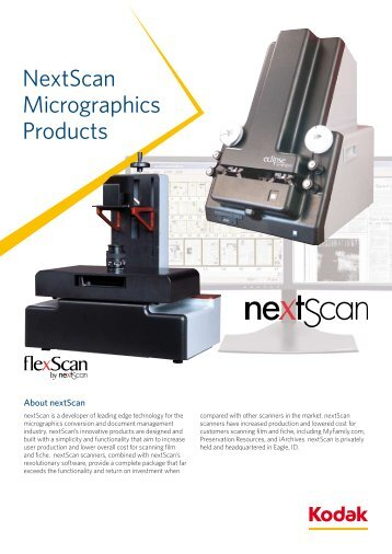 NextScan Micrographics Products - Kodak