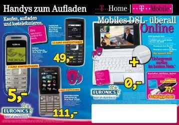 Mobiles DSL- überall Handys zum Aufladen