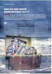 WER IST DER BESTE WERKZEUGBAU 201 1? - OPUS Formenbau ...