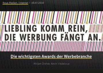 Die wichtigsten Awards der Werbebranche - New Media Buzz