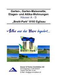 Breiti-Park - Gasser & Partner Architekten + GU AG