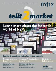 download PDF version of Telit2Market Magazine 7/12 - M2M Now