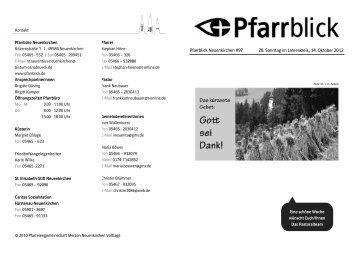 Pfarrblick Neuenkirchen #97 28. Sonntag im Jahreskreis, 14 ...