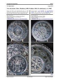 SG, Sadler, Vier alte kleine Teller, Radeberg 1890 - Pressglas ...