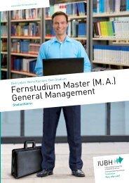 Fernstudium Master (M. A.) General Management - IUBH