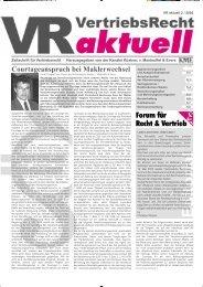 VR aktuell 2 / 2002 - Forum für Recht & Vertrieb GmbH