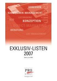 Download Info-Flyer (PDF 1 Mb) - PRO Direct Werbeagentur GmbH