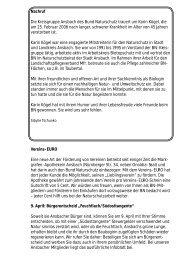 Verschiedenes - Bund Naturschutz Kreisgruppe Ansbach