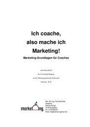 Ich coache, also mache ich Marketing!