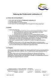 Satzung des Förderverein Leitmecke e.V. - PROJEKTOR ...