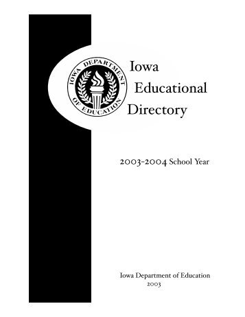 Iowa Publications Online - State of Iowa