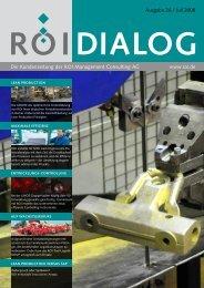 Die Kundenzeitung der ROI Management Consulting AG www.roi.de ...