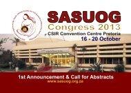 SASUOG 2013 1st ANNOUNCEMENT & CALL FOR ... - sasog