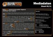 Mediadaten 2011 - donkmag – Street & Online Poker Magazin