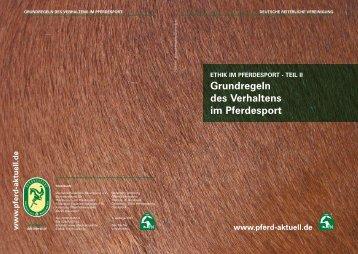 Grundregeln des Verhaltens im Pferdesport - HOLSTEINER ...