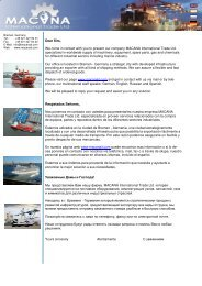 presentation MACANA International Trade Ltd. - ShipServ