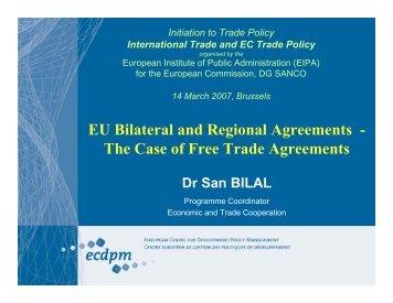 San Bilal, EU FTAs - EPAs - ecdpm