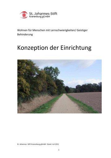 Konzeption der Einrichtung - St. Johannes-Stift