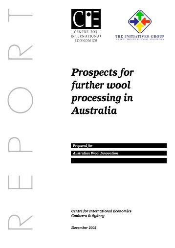 Prospects for further wool processing in Australia