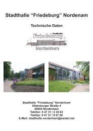 """Stadthalle """"Friedeburg"""" Nordenam"""