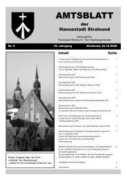 Amtsblatt Nr. 9 - Hansestadt Stralsund