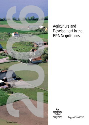 Agriculture and Development in the EPA Negotiations - Stop Epa