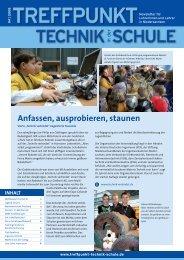 Anfassen, ausprobieren, staunen - Treffpunkt Technik in der Schule
