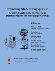 Promoting Student Engagement - Society for the Teaching of ...