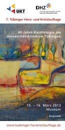 Programm als PDF speichern - 7. Tübinger Herz
