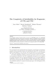 The Complexity of Satisfiability for Fragments of CTL and CTL* 1