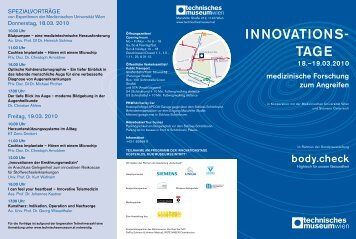 innOvATiOns- TAge - Termine-meduniwien.at