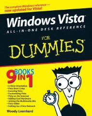 Windows Vista All-In-One Desk Reference For Dummies - Pabs