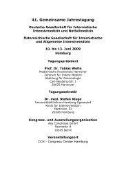41. Gemeinsame Jahrestagung - Universitätsklinikum Hamburg ...