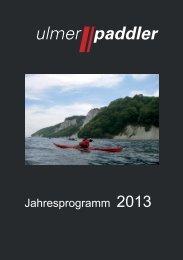 Jahresprogramm 2013 - bei den Ulmer Paddlern