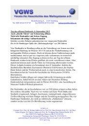 Tag des offenen Denkmals 2012 - Verein für Geschichte des ...