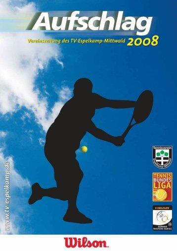 Aufschlag 2008 (PDF, ca. 4 MByte) - TV Espelkamp-Mittwald eV