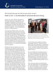 Pressemitteilung weiterlesen. - Werkstatt für behinderte Menschen ...