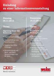 Einladung zu einer Informationsveranstaltung - Fachgruppe ...