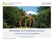 Werkstatt als Produktionsschule - Werkstätten:Tag 2012